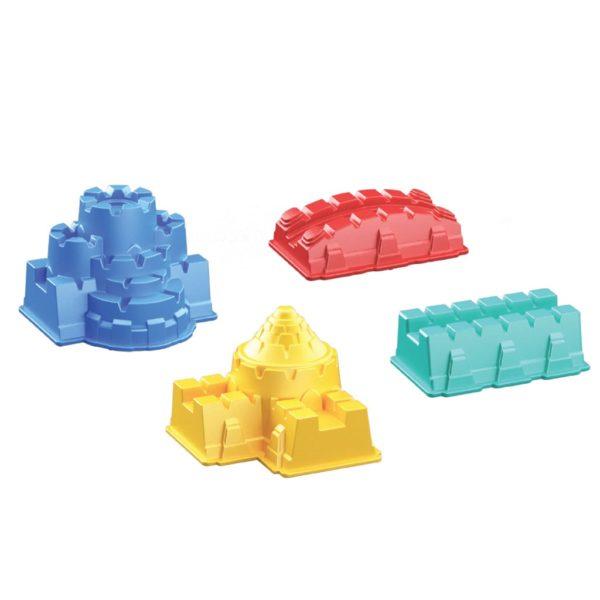 لعبة بناء قلعة رملية مع قوالب ملونة من ارت كرافت، 5 قطع