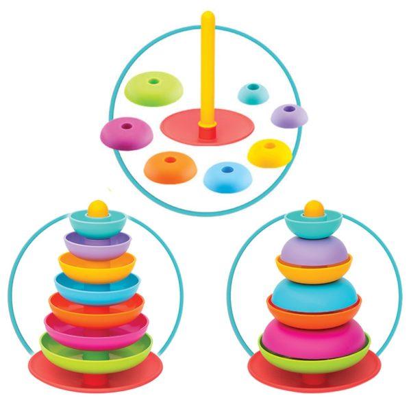 لعبة ترتيب حلقات قوس قزح للاطفال