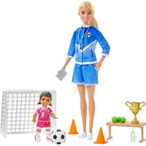 Barbie Soccer Coach Playset with 2 Dolls