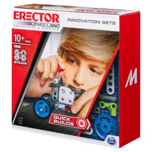 Erector by Meccano, Quick Builds, S.T.E.A.M. Building Kit with Real Tools
