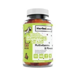 Herbaland Gummies For Kids, Multivitamins And Minerals, Strawberry And Citrus Flavor