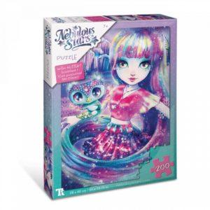 Isadora &Paloma Glitter Puzzles 200 pcs Nebulous Stars