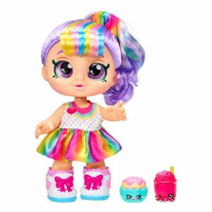 Kindi Kids Snack Time Friends - Pre-School Play Doll, Rainbow Kate