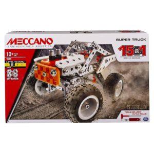 Meccano, 15-in-1 Super Truck, S.T.E.A.M. Building Kit
