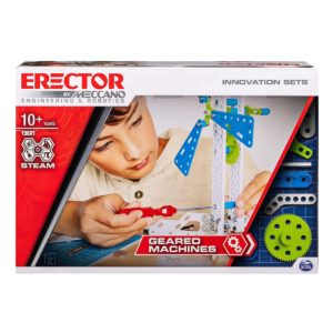 Meccano Erector, Geared Machines S.T.E.A.M. Building Kit with Moving Parts
