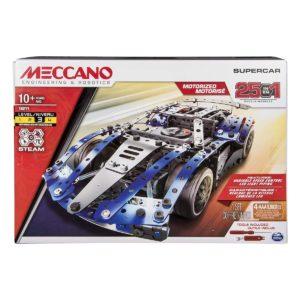Meccano by Erector, 25-Model Supercar Stem Building Kit