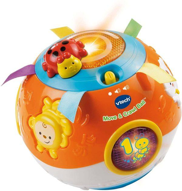 VTech Move and Crawl Ball, Orange