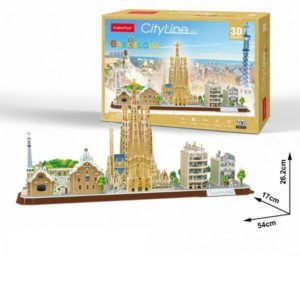 Cubic Fun Barcelona City Shaped 3D Puzzle