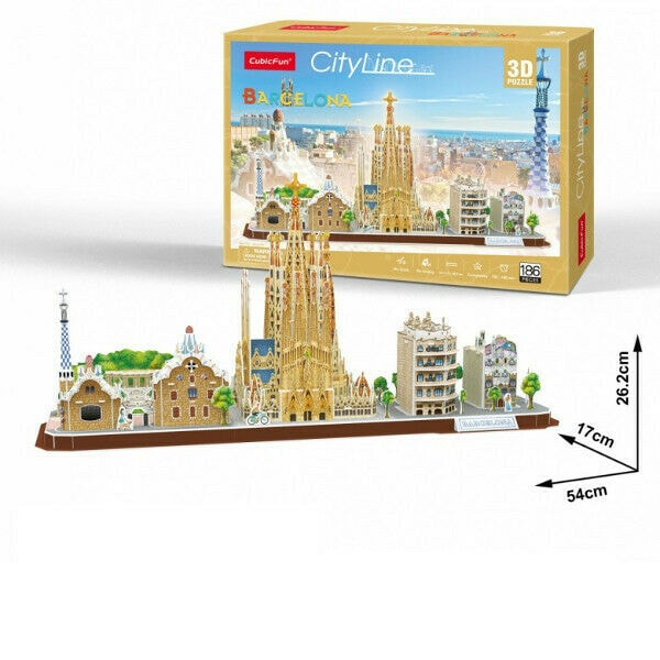 Cubic Fun Barcelona City Shaped 3D Puzzle