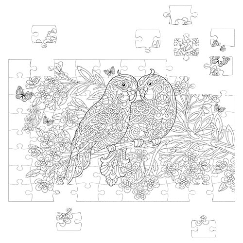 coloring lovely birds 150 pieces – fluffy bear