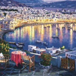 Jigsaw Puzzle Mykonos At Sunset 1500 Piece Trefl