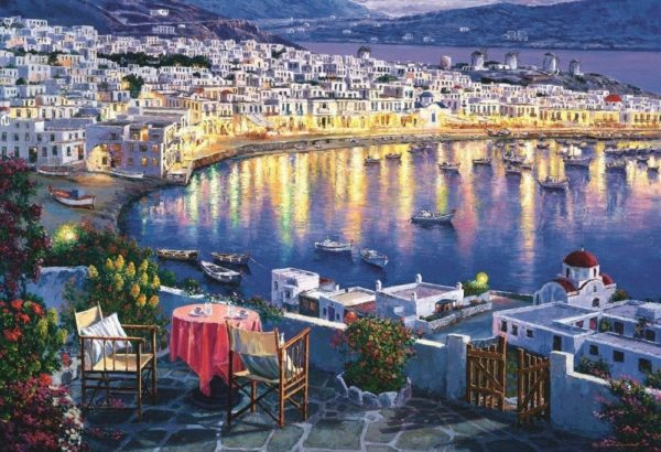 Jigsaw Puzzle Mykonos At Sunset 1500 Piece Trefl