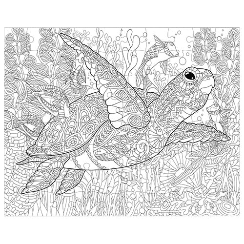 Sea Turtle Coloring Puzzle 300 pieces - Fluffy Bear