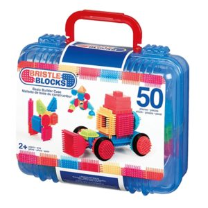 50 piece Basic builder case with handle Bristle block