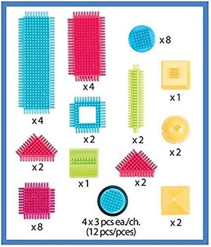 شنطة مكعبات تركيب شعيرات 50 قطعة من بريستل بلوكس