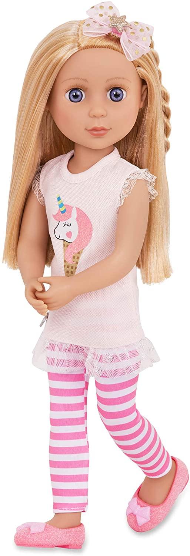 doll by battat – lacy fashion glitter girls