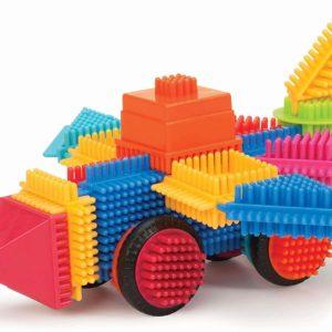 by Battat – The Official Bristle Blocks – 80 Pieces Bristle Blocks