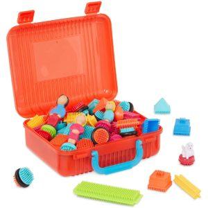 Big Value Case Bristle Blocks - 85 Pieces Bristle Blocks