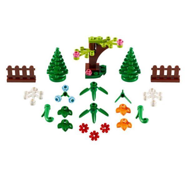 مكعبات الاكسسوارات النباتية من ليجو