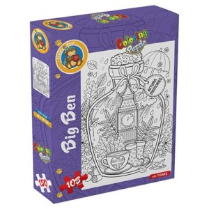 Coloring London puzzle 108 pieces - Fluffy Bear