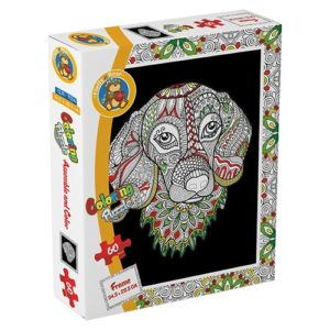 Dog – Coloring Puzzle 60 pieces - Fluffy Bear