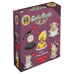 Early Cute Farm Animals 5 puzzle Sets - Fluffy Bear