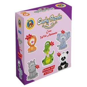 Early Cute Wild Animals 5 puzzle Sets - Fluffy Bear