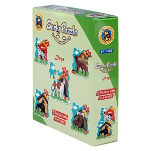 Early Dogs 5 Puzzle Sets - Fluffy Bear