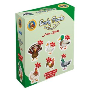 Early Farm Birds 6 puzzle Sets - Fluffy Bear