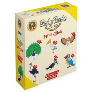 Early Jungle Birds 6 puzzle Sets - Fluffy Bear