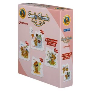 Early Seasons 4 puzzle Sets - Fluffy Bear