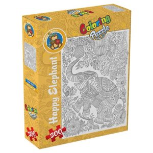 Elephant – Coloring Puzzle 300 pieces - Fluffy Bear