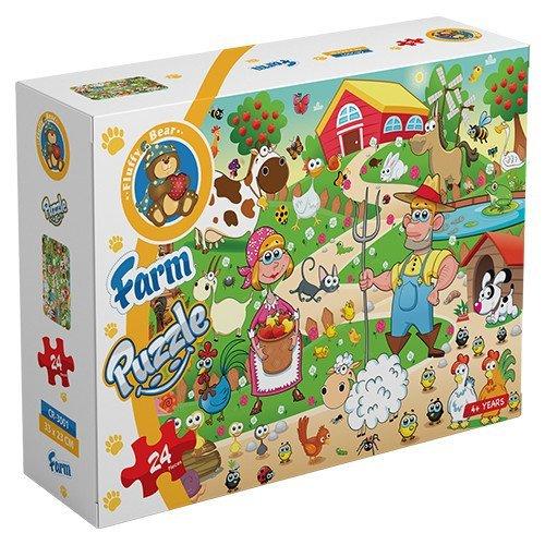 Farm – puzzle 24 pieces - Fluffy Bear