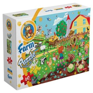 Farm – puzzle 60 pieces - Fluffy Bear