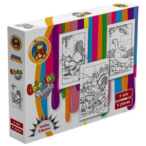 Farm Coloring 3 Puzzle Sets 6 pieces - Fluffy Bear