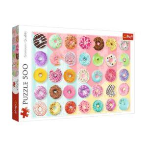 Jigsaw Puzzle Sweet Dounts 500 Piece Trefl