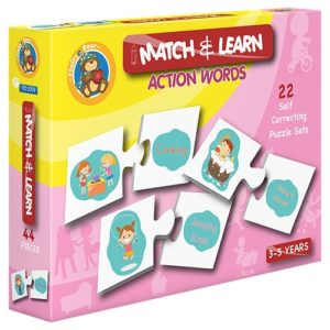 Match & Learn – Action Words 22 Self Correcting Puzzle Sets - Fluffy Bear
