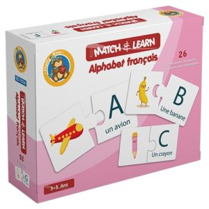 Match & Learn – Alphabet Français 26 Self Correcting Puzzle Sets - Fluffy Bear