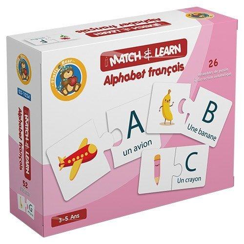 بازل تطابق وتعلم الأبجدية الفرنسية - 26 مجموعة لتصحيح الذاتي - فلافي بير