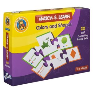 Match & Learn – Colors & Shapes 20 Self Correcting Puzzle Sets - Fluffy Bear