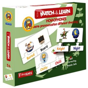 Match & Learn – Homophones 18 Self Correcting Puzzle Sets - Fluffy Bear