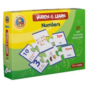 Match & Learn – Numbers 20 Self Correcting Puzzle Sets - Fluffy Bear