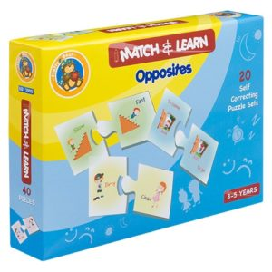 Match & Learn – Opposites 20 Self Correcting Puzzle Sets - Fluffy Bear