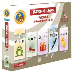 Match & Learn – Phonics 20 Self Correcting Puzzle Sets - Fluffy Bear