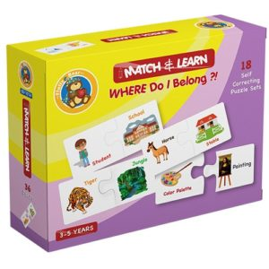 Match & Learn – Where do i belong 18 Self Correcting Puzzle Sets - Fluffy Bear