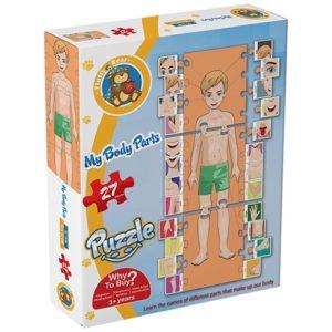 بازل أجزاء جسم الانسان باللغة الانجليزية - 27 قطعة - فلافي بير- 27 قطعة - فلافي بير