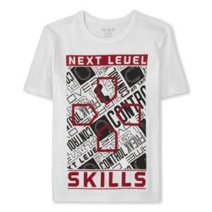 Next leuel T-shirt White children place