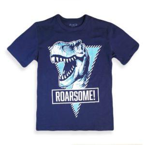 Roarsome T-shirt Blue Black Children Place