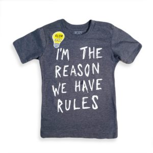 Rules T-Shirt Dark Gray Children place