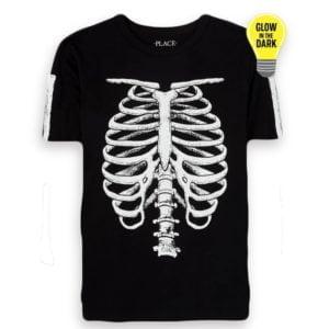 Skelton T-shirt Black Children Place